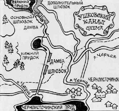 Схема Ушковской канавы