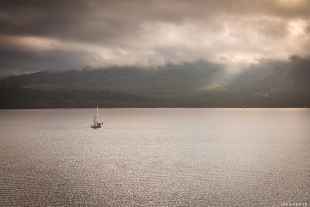 Яхта на озере Банном