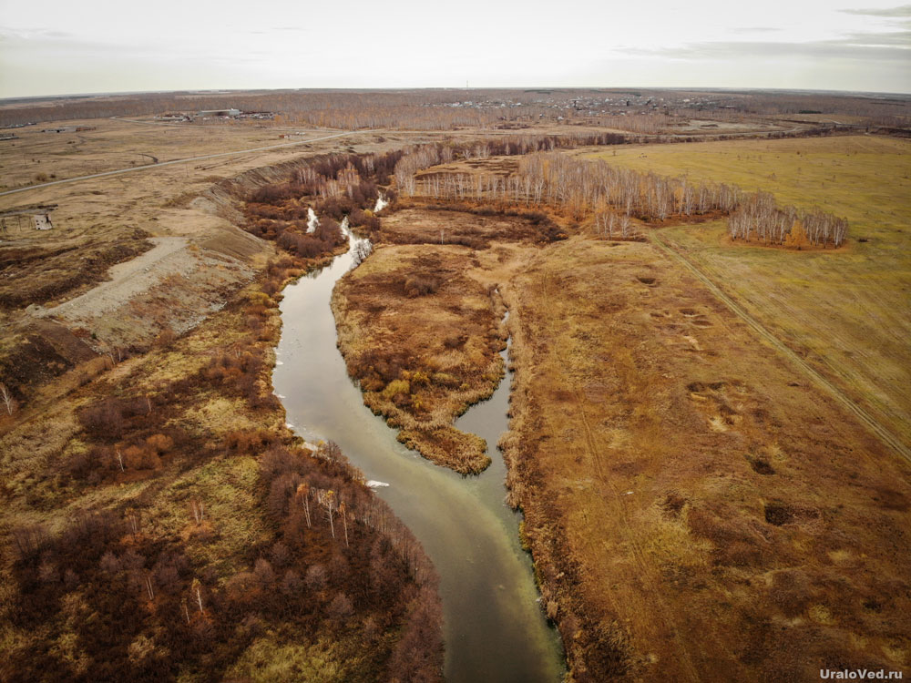Река Теча в Муслюмово