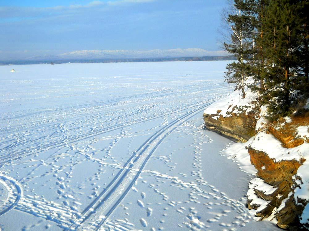 Озеро Иртяш зимой