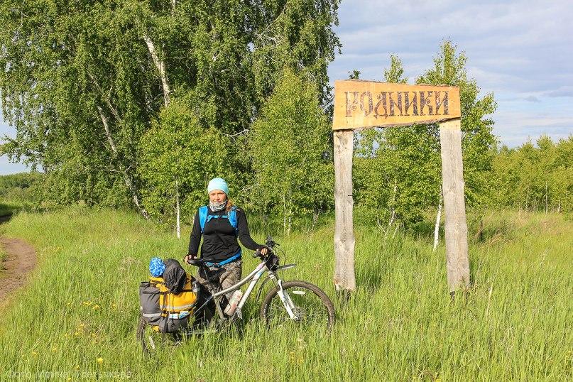 На въезде в поселок Родники, Юргамышский район