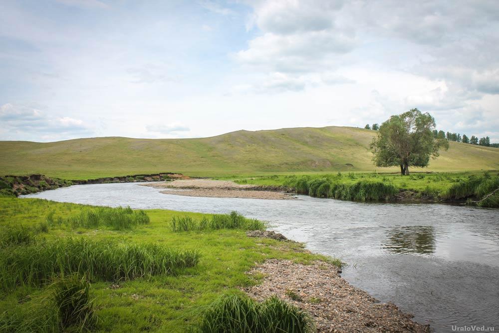 Река Урал в верховьях. Окрестности Новобайрамгулово