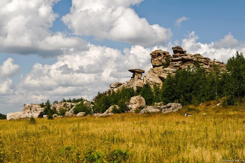 Гора Крестовая на хребте Рудянский спой