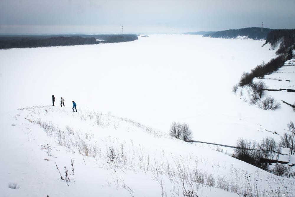 Зимняя Кама в Пыскоре