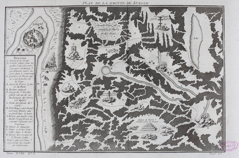 План Кунгурской пещеры 1768 года