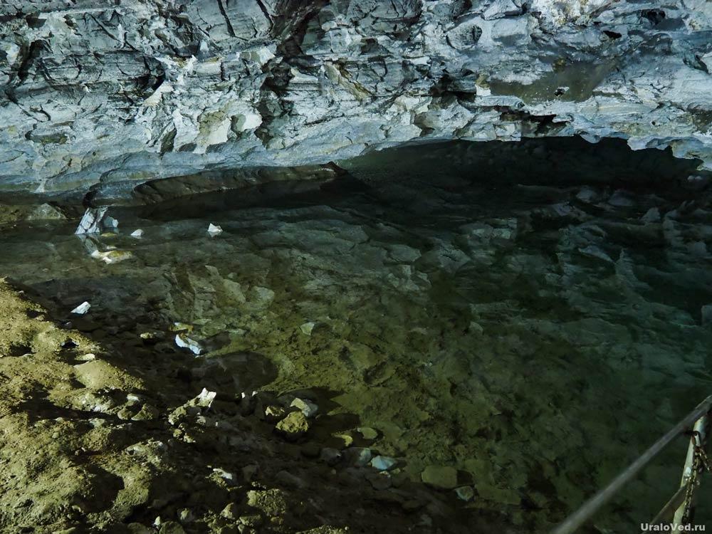 Озеро в Кунгурской пещере