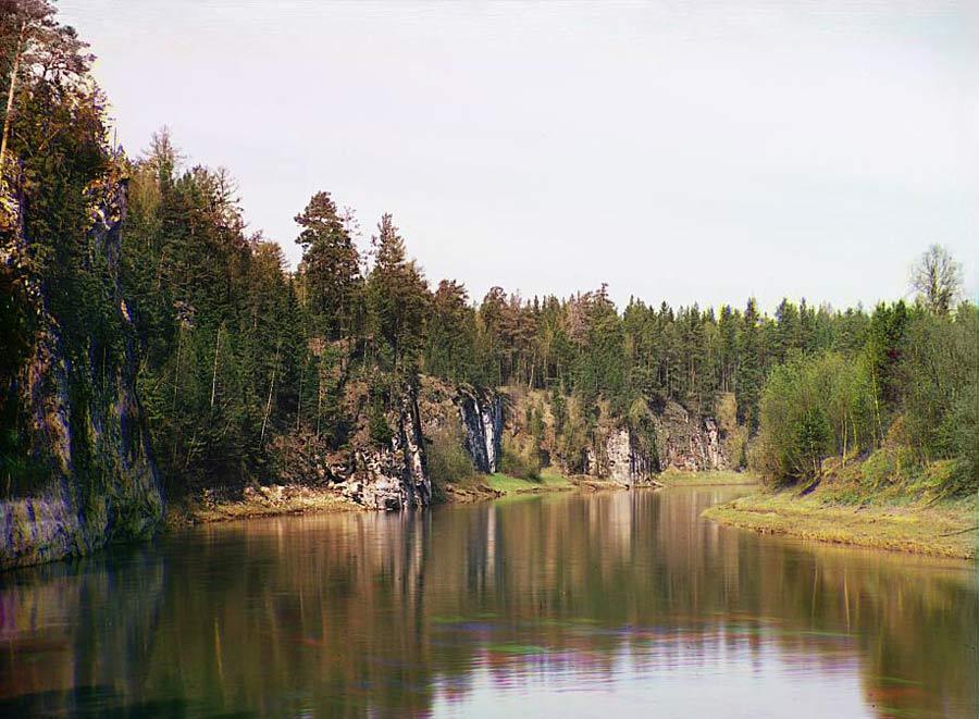 Камень Гребешки. Фото С.М. Прокудина-Горского