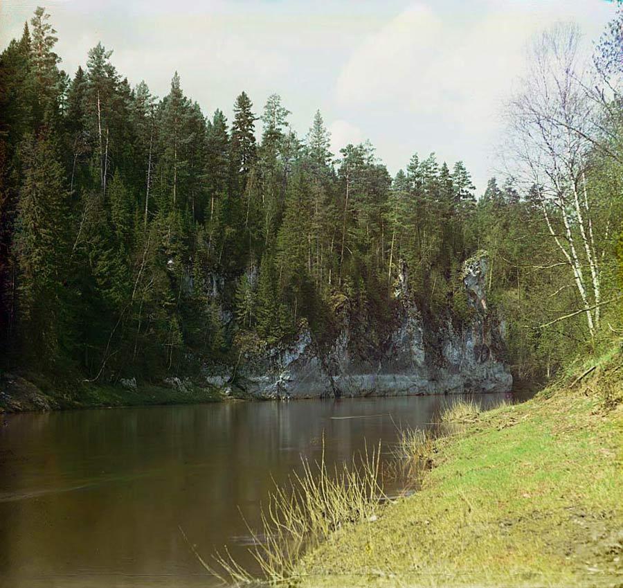 Камень Гребешки. Фото С.М. Прокудина-Горского, 1912 год
