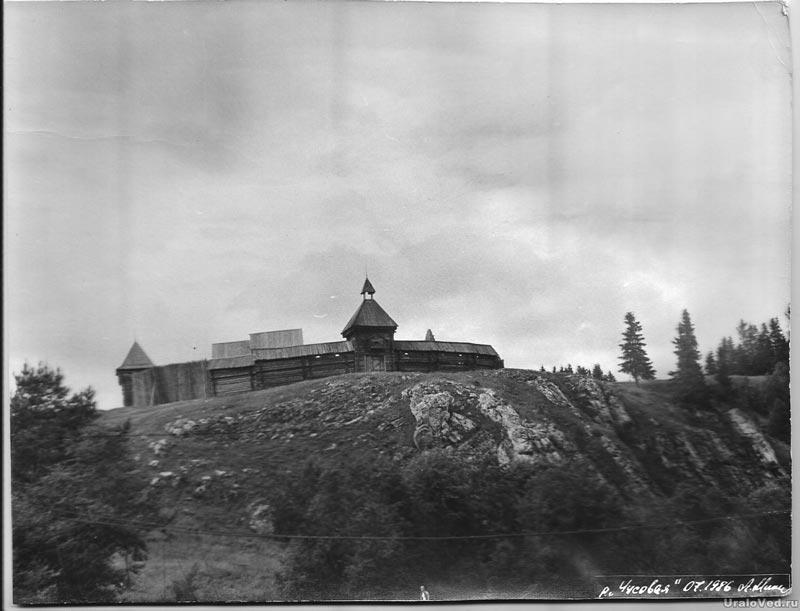 Старое фото декораций фильма Семен Дежнев в Каменке
