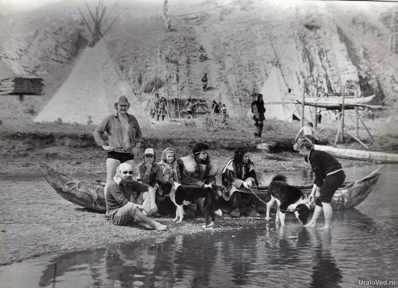 Фото со съемок фильма Золотая баба