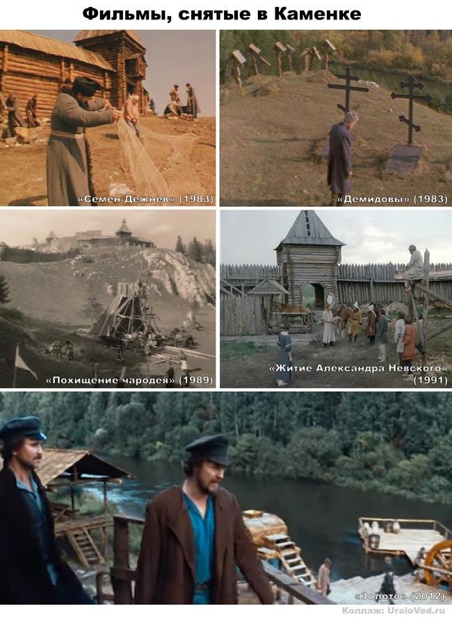Фильмы, снимавшиеся в деревне Каменка на реке Чусовой