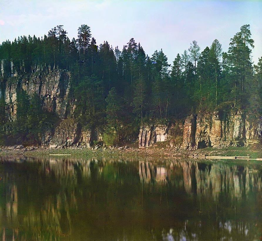 Камень Переволочный. Фото С.М. Прокудина-Горского, 1912 г.