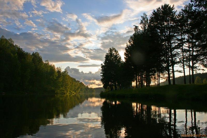 Вечер на реке Серге