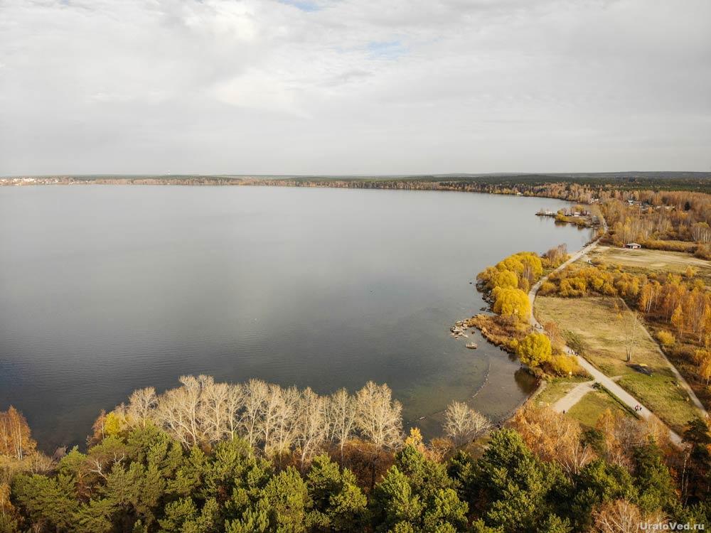 Озеро Шарташ с высоты птичьего полёта