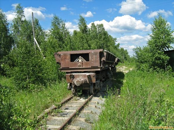 Узкоколейка в Шабрах, Свердловская область