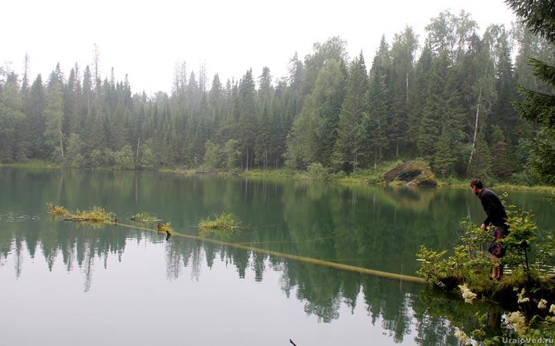 На озере Бездонном около Висима