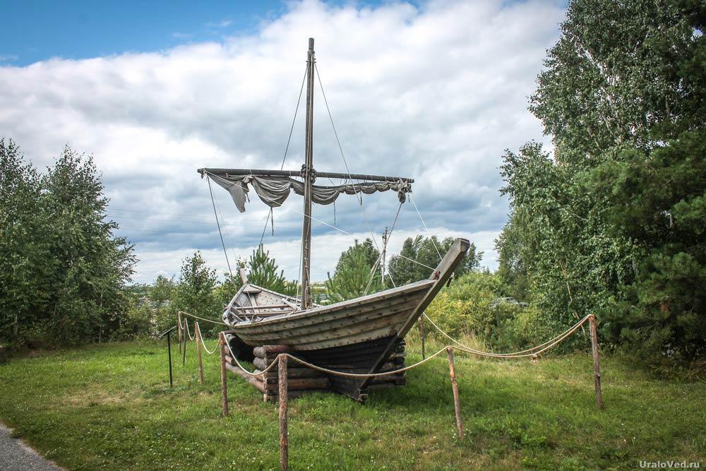 Макет судна в музее-заповеднике на озере Андреевском