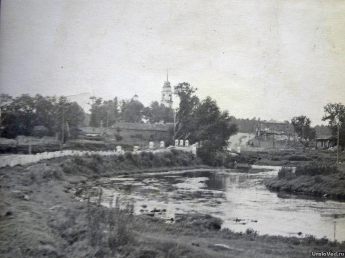 Река Багаряк в селе Юго-Конево