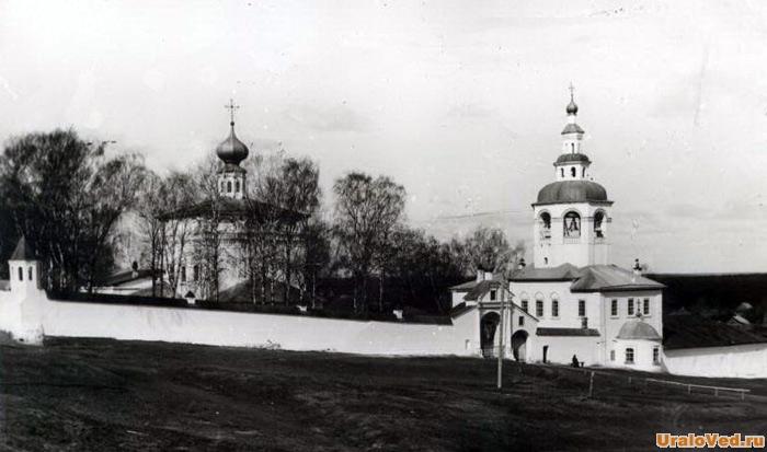Мужской монастырь Соликамска, старое фото